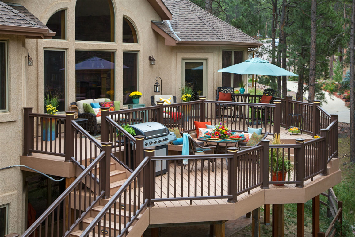 Home Deck Design Ideas: Ideas For Patios & Decks Using An Automatic Plant Watering