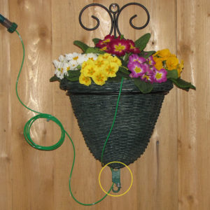 plant booster drip irrigation kit used with fence basket planter